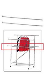 Chrome Add On Rails for Chrome Double-Rail Clothing Rack with Z-Brace