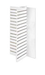 4-Panel White Slatwall Tower