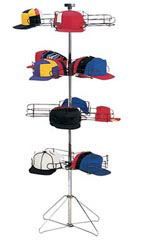 4-Tier Rotating Standing Cap Rack