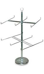 2-Tier Countertop Peg Spinner Rack