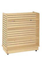 24 x 48 x 48 inch Maple Slatwall Gondola with 6 Shelves