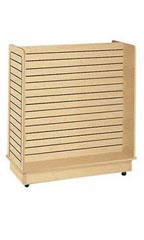 24 x 48 x 48 inch Maple Slatwall Gondola with Casters