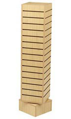 Maple Rotating Slatwall Tower