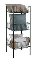 3-Tier Black Wire Dump Bin