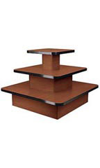 3-Tier Square Cherry Table