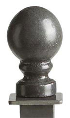 Boutique Raw Steel Ball Square Fitting Finial