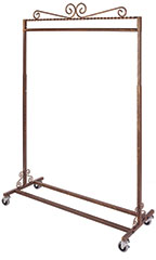 Boutique Cobblestone Single-Rail Rolling Rack