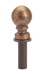 Boutique Cobblestone Ball Finial for Counter Merchandise Hooks