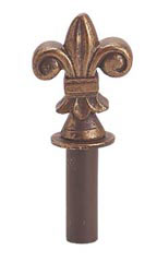 Boutique Cobblestone Fleur De Lis Finial for Counter Merchandise Hooks