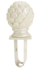 Boutique Ivory Artichoke Square Fitting Finial