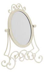 Boutique Ivory Countertop Mirror - Case of 2