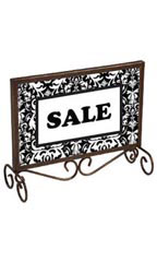 Boutique Cobblestone 7 x 11 inch Countertop Sign Holder