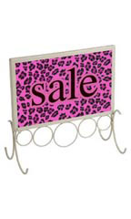 Boutique Ivory 7 x 11 inch Countertop Sign Holder