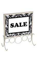 Boutique Ivory 8 ½ x 11 inch Countertop Sign Holder