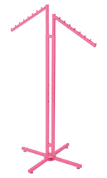 Hot Pink 2-Way Clothing Rack with Slant Arms