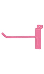 6 inch Hot Pink Slatwall Hook