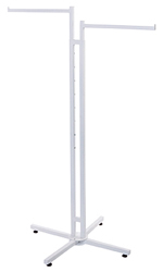 White 2-Way Clothing Rack with Straight Arms