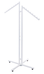 White 2-Way Clothing Rack with Slant Arms