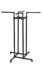 Boutique Pipe 4-Way Clothing Rack - Straight Arms