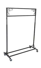 Boutique Vintage Single Rail Rolling Rack