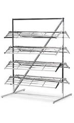 Chrome Shoe Rack Organizer Merchandiser