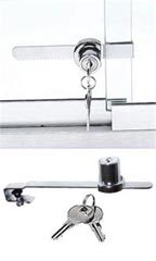 Ratchet Lock with Keys for Display Cases