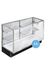 70 inch Extra Vision Black Metal Framed Display Case Fully Assembled