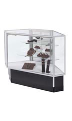 Mirror Door Option for Extra Vision Rear Access Corner Display Case