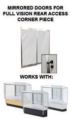 Mirror Doors and Plunger Lock Kit for Full Vision Rear Access Corner Display Cases