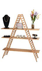 A-Frame Wood Display Unit