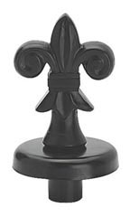 Boutique Black Fleur De Lis Finial for Dressmaker Forms