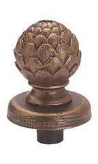 Boutique Cobblestone Artichoke Finial for Dressmaker Forms