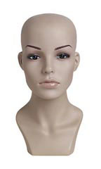 "Female Plastic Mannequin Head - 13½""H"