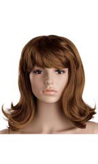 Brunette Shoulder Length Mannequin Wig