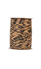 "Tiger Print Paper Matte Raffia - 1/2""W - Case of 2"