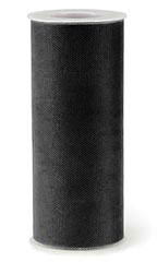 "Black Tulle - 6""W - Case of 3"