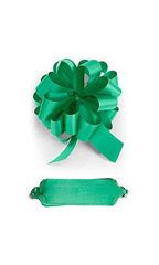 "Emerald Green Pull Bows - 5 1/2"" - Case of 50"