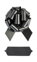 "Black Pull Bows - 8""- Case of 50"