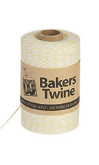 Bakers Twine - Lemon & White - Case of 3