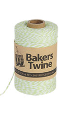 Bakers Twine - Lime & White