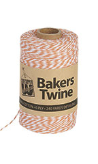 Bakers Twine - Orange & White