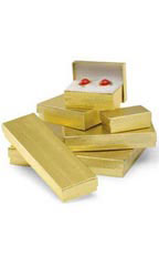 Gold Embossed Cotton-Filled Jewelry Box Assortment - Case of 75