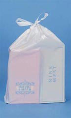 White Plastic Drawtape Bags - Case of 250
