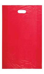 Large High Density Red Plastic Merchandise Bags - Case pf 1,000