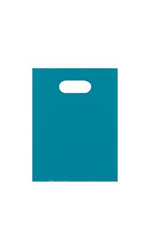 Small Low Density Teal Merchandise Bags - Case of 1,000