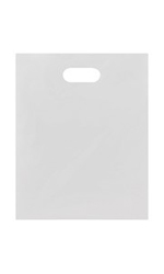 Medium Low Density White Merchandise Bags - Case of 1,000