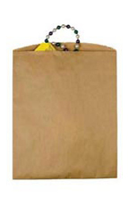 Large Natural Kraft Paper Merchandise Bags - Case of 1,000