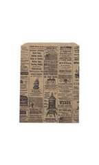 Medium Newsprint Paper Merchandise Bags - Case of 1,000