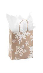 Medium Giant Snowflake Paper Shopping Bags - Case of 25