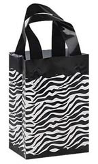 Small Zebra Plastic Shopping Bags - Case of 25